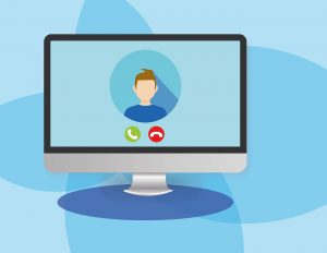 computer, video conference, communication